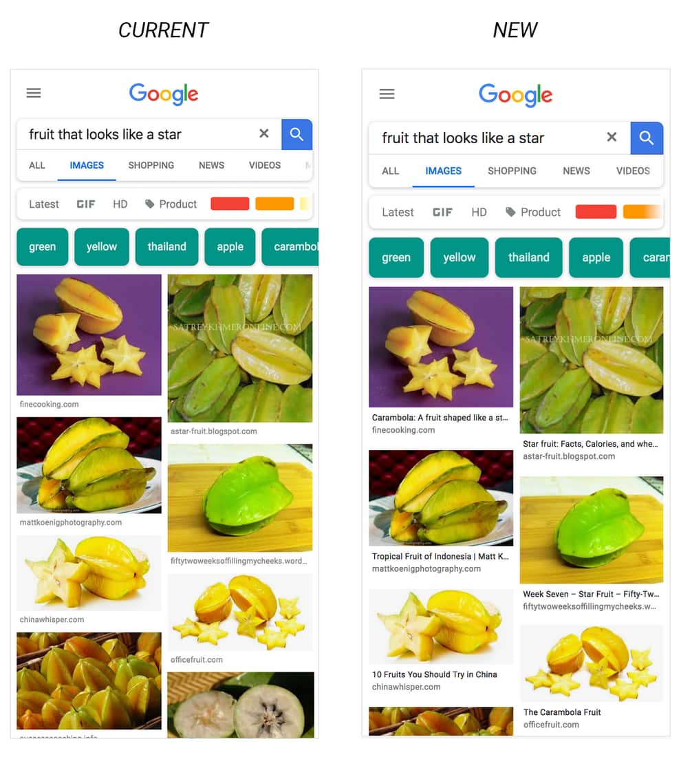 Google görsellerde radikal değişim