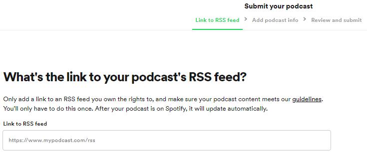 Spotify podcast yükleme