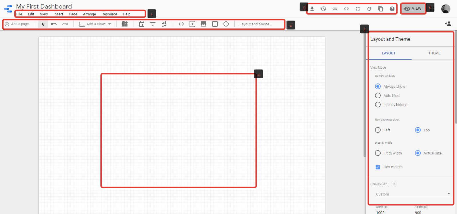 Data Studio Ekran Parametreleri