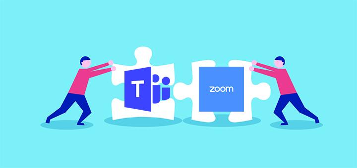 Zoom ve Microsoft Teams görüntülü konuşma uygulamsı